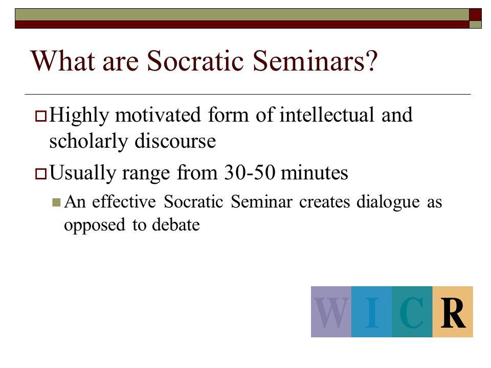 What are Socratic Seminars.