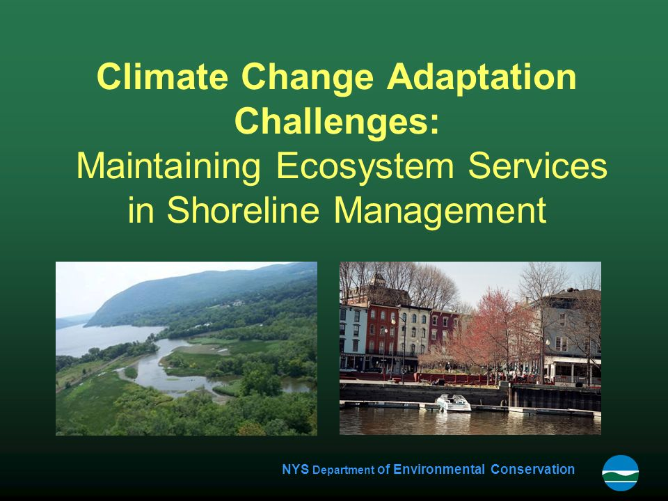 NYS Department of Environmental Conservation Climate Change Adaptation Challenges: Maintaining Ecosystem Services in Shoreline Management