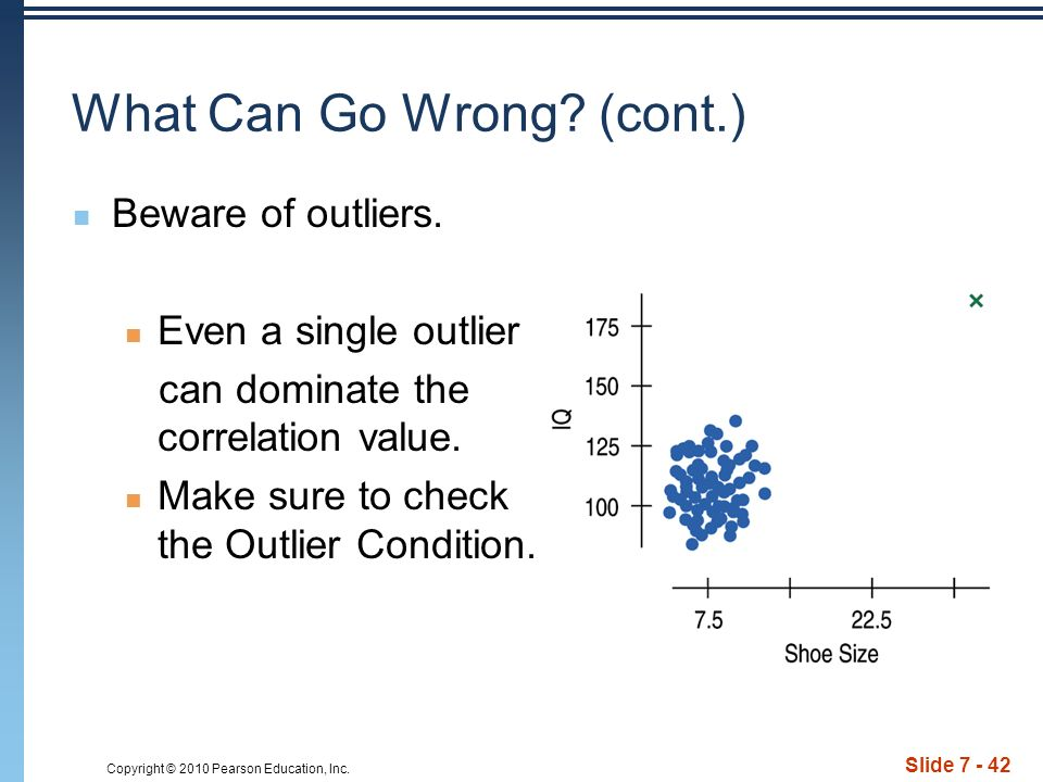 Copyright © 2010 Pearson Education, Inc. Slide 7 - 42 What Can Go Wrong.
