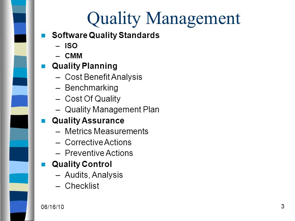 06/16/101 Software Project Management (Spm) Lecture 9 Software