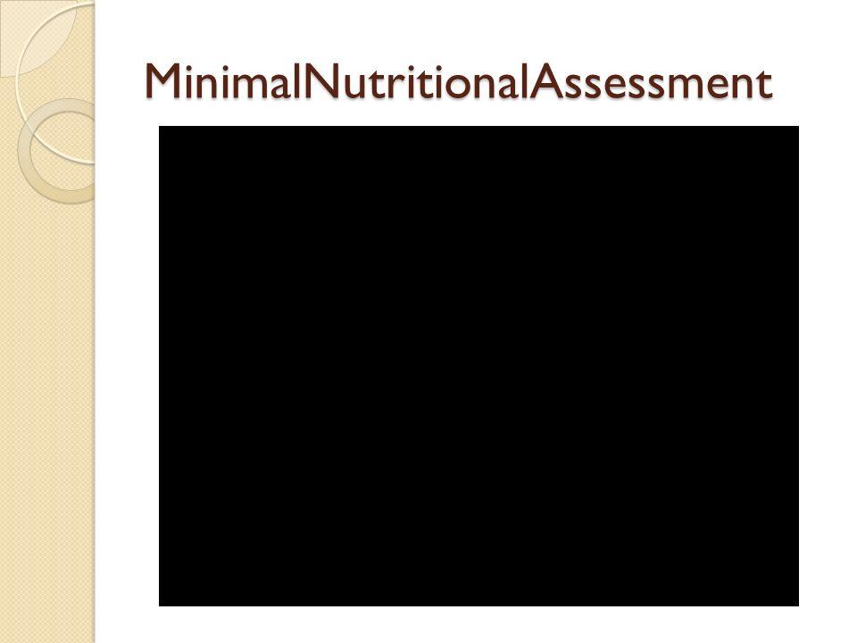 MinimalNutritionalAssessment