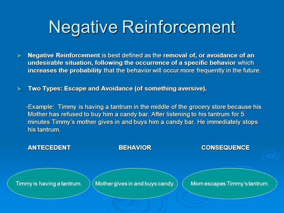 BASIC PRINCIPALS OF REINFORCEMENT TWO TYPES: -Positive Reinforcement ...