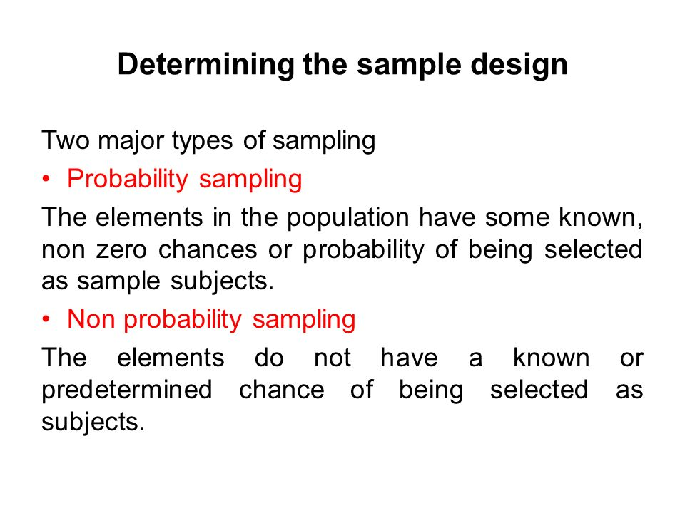 Research Methodology Lecture No :14 (Sampling Design) - ppt download