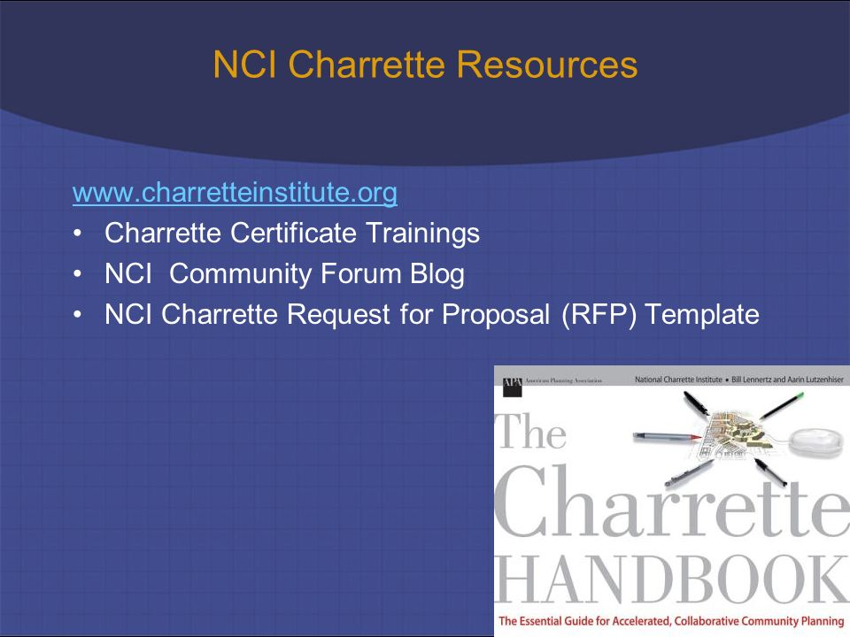 Resources wwwcharretteinstituteorg Charrette Certificate Trainings request