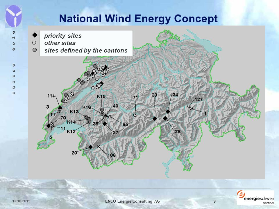 Energie Consulting enco energie consulting ag s u i s s e é o l e wind energy in