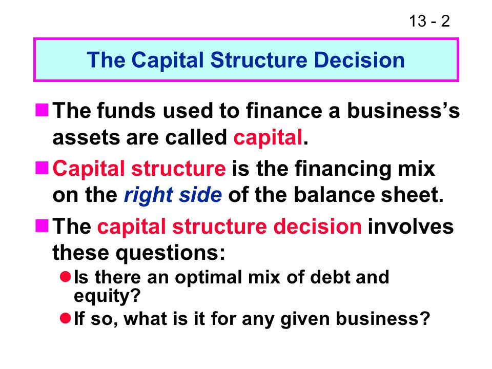business financing and the capital structure 2 essay Justification for using a corporate business structure business structure essay business financing and the capital structure business financing and.