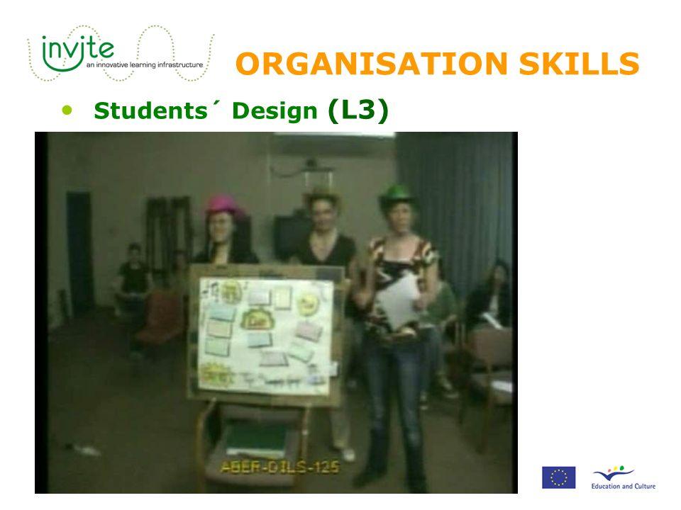 ORGANISATION SKILLS Students´ Design (L3)