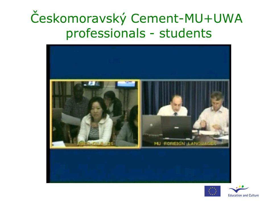 Českomoravský Cement-MU+UWA professionals - students