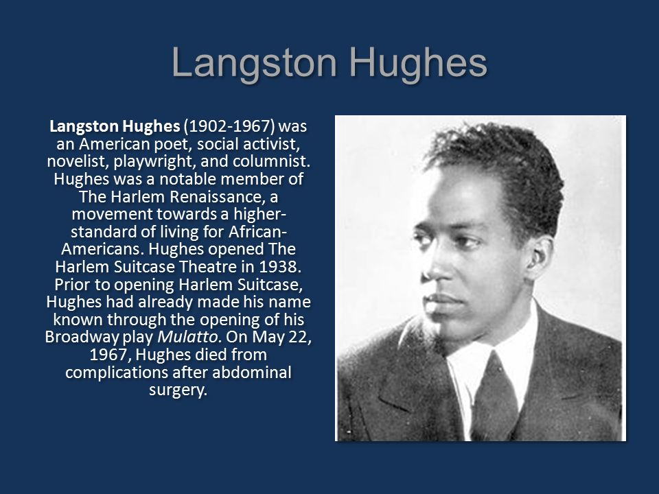 langston hughes salvation In langston hughes short-story salvation, the author explains his personal experience towards religion as a child langston hughes utilizes characterization, imagery, and narrative voice to explain the pressures of understanding faith versus how faith challenges perception.