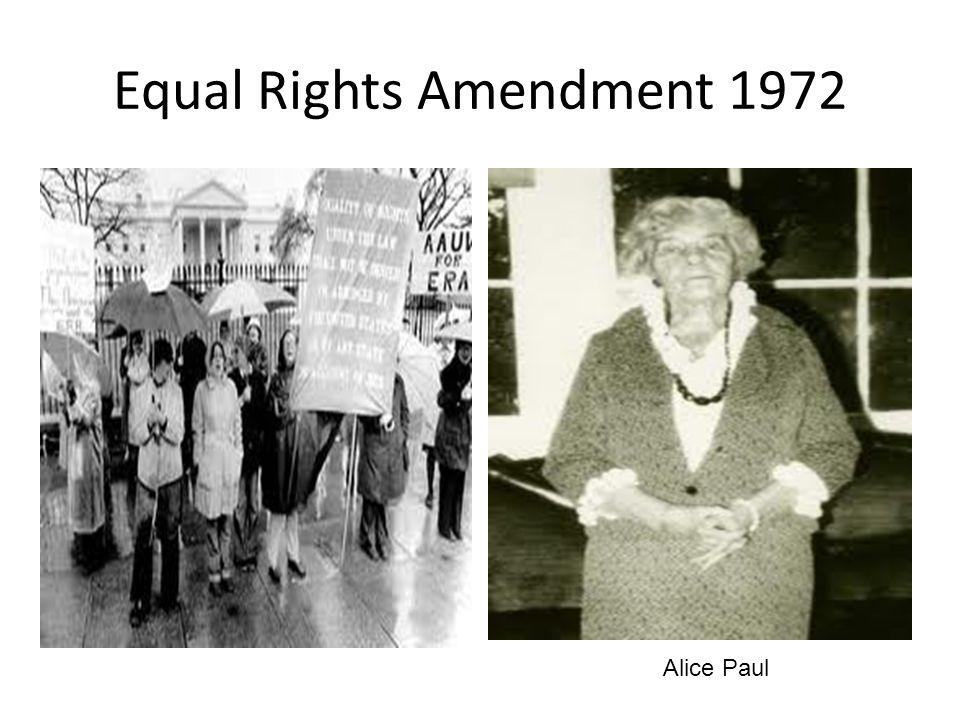 Equal Rights Amendment 1972