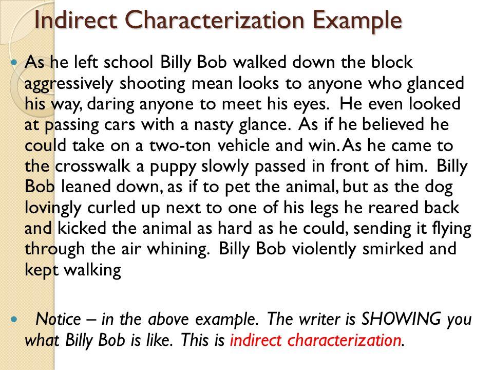 indirect characterization essays
