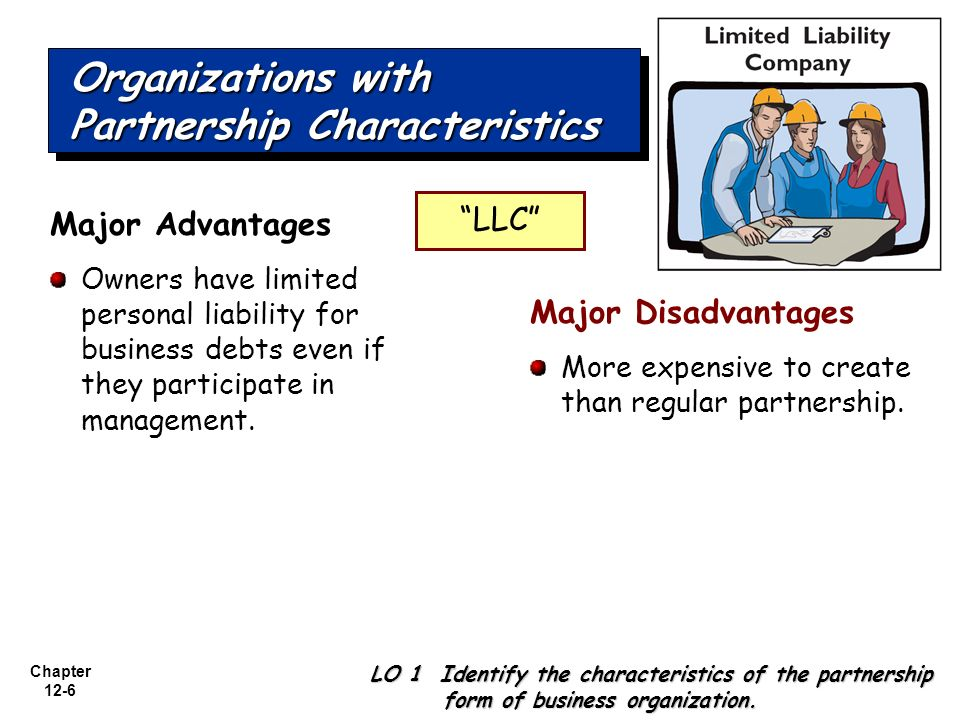 Chapter 12-1 ACCOUNTING FOR PARTNERSHIPS. Chapter 12-2 LO 1 ...