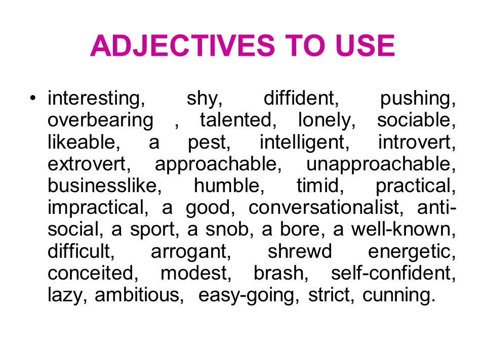 useful descriptive words for essays