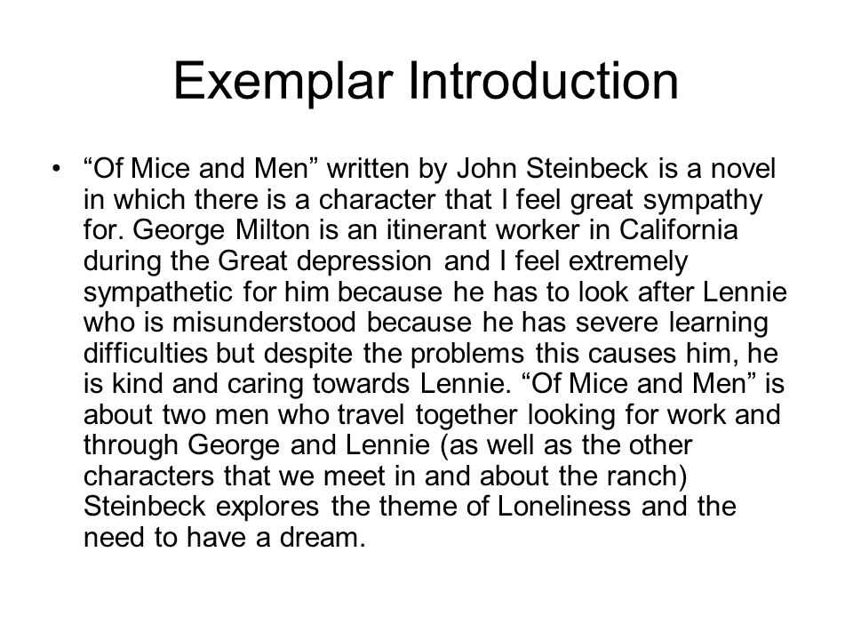 mice men novel essays Mice Men essays