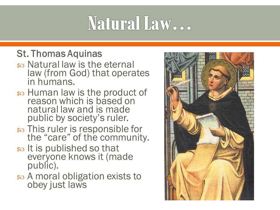 st thomas aquinas the human law
