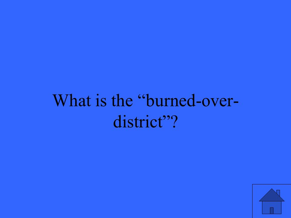 25 What is the burned-over- district