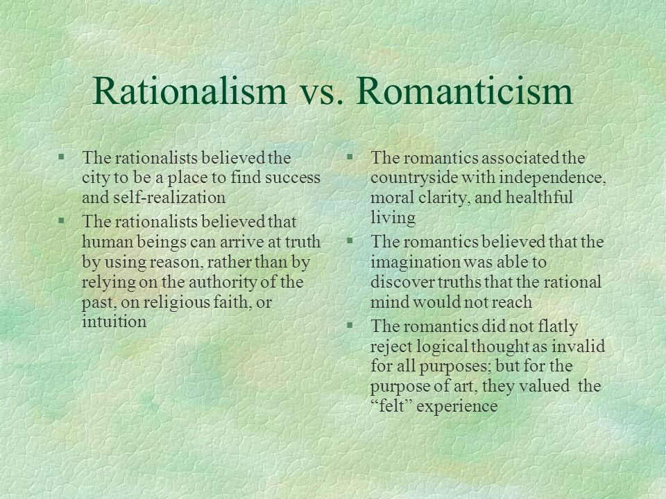 Rationalism vs.