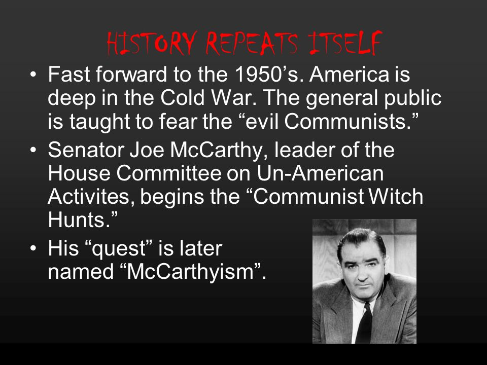 the lasting negative impact of hysteria surrounding the evils of communist regemes