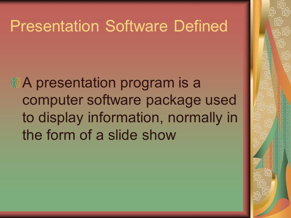 PowerPoint Presentations Understand uses of presentation software ...