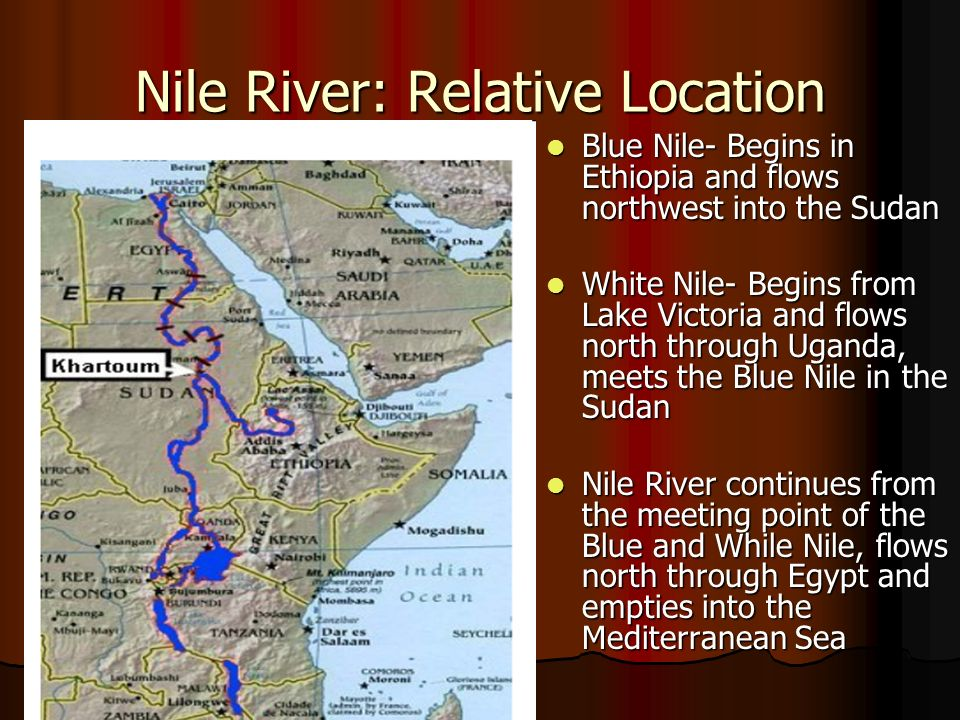 Nile river map location