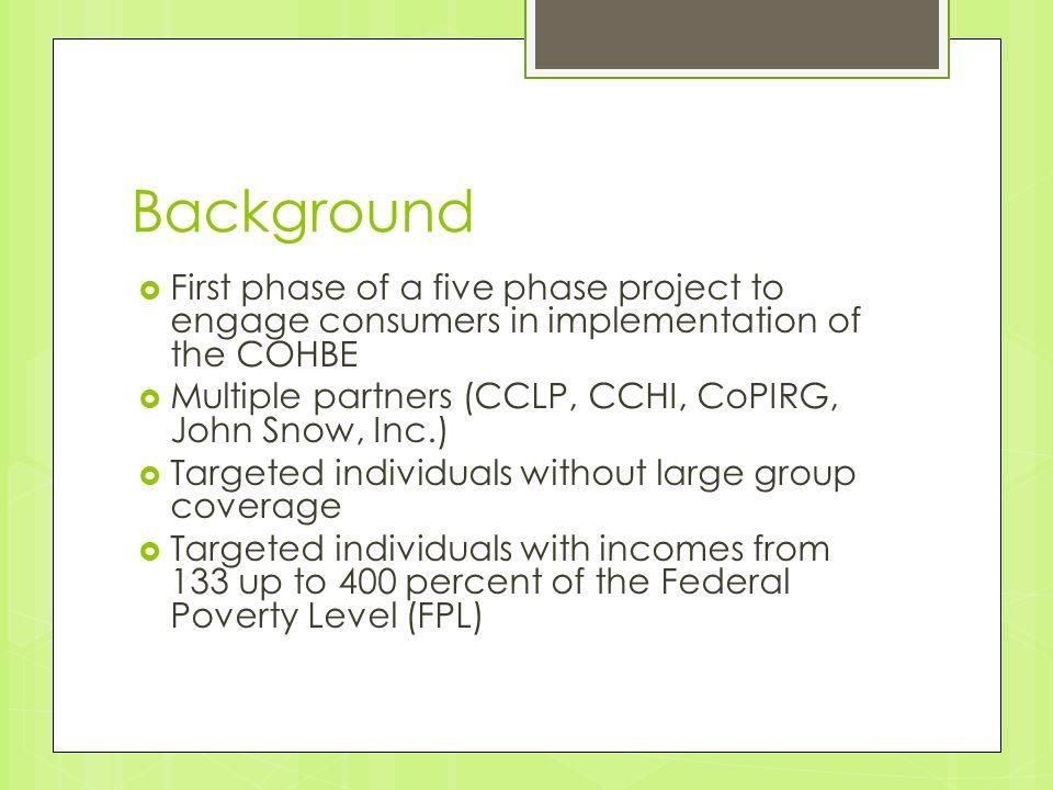 Colorado Health Insurance Exchange Consumer Focus Groups Adela