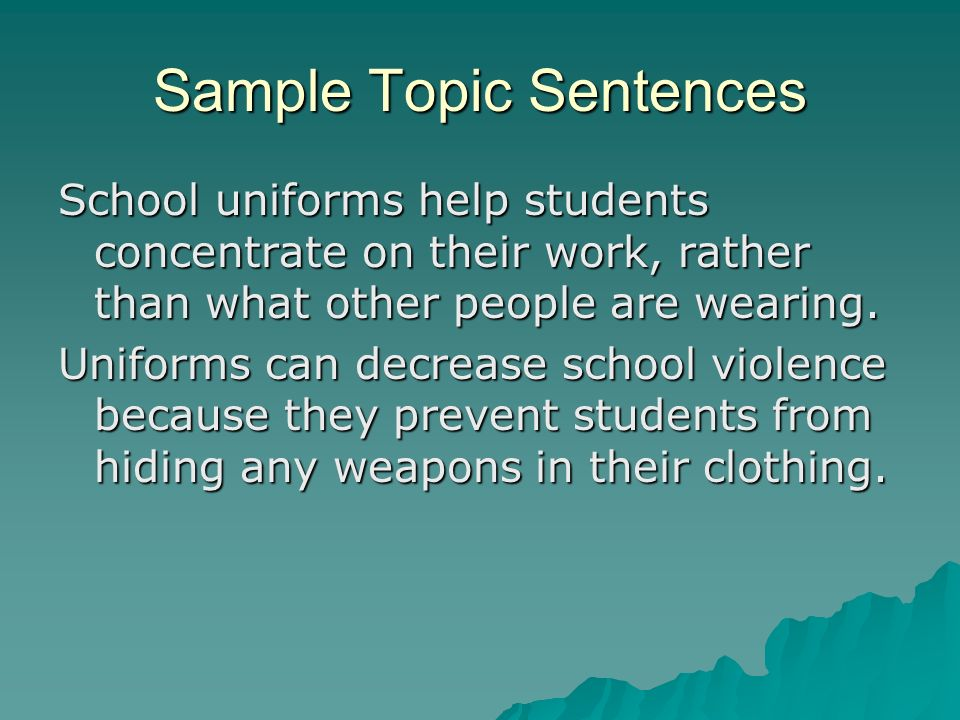 I need help coming up with a hook for an Argumentative Essay about School Uniforms?
