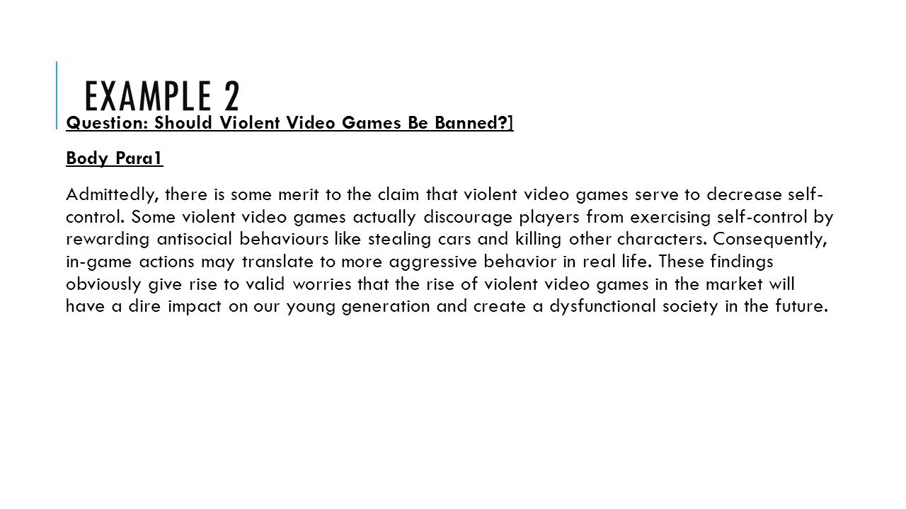 thesis on video games and violence