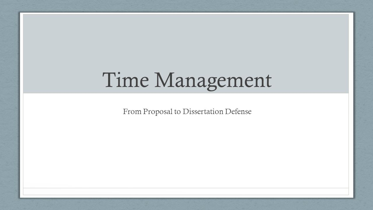 Proposal defense presentation