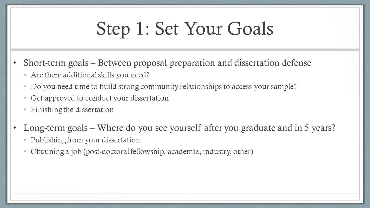 Dissertation Proposal Defense