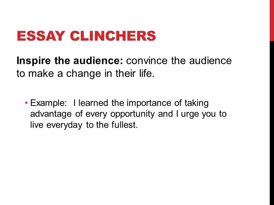 good essay clinchers