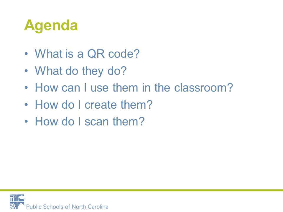 Tech Tools Focus QR Codes. Agenda What is a QR code? What do they ...