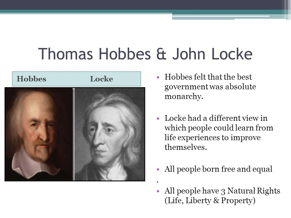 hobbes vs thoreau Anarchy may be bad, but despotism is worse (locke instead of hobbes) if we face an thoreau ardently wished that all opponents of slavery would act on.