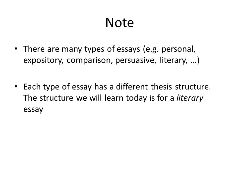 different essay structures