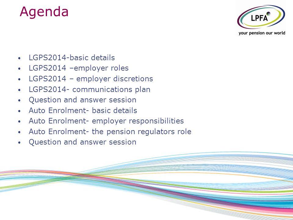 New lgps 2014 and automatic enrolment workshop agenda lgps2014 2 agenda spiritdancerdesigns Image collections