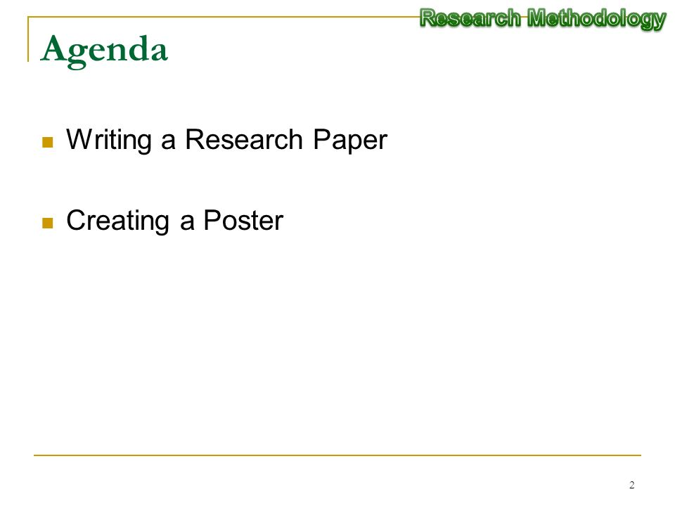 writing the methodology for a research paper -powerpoint lecture (research paper writing: an overview) review each major section of the research paper (introduction, method, results, discussion),.