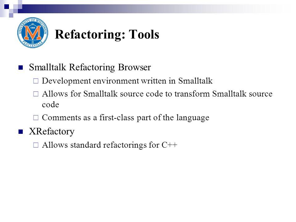 Code Refactoring Tools 73