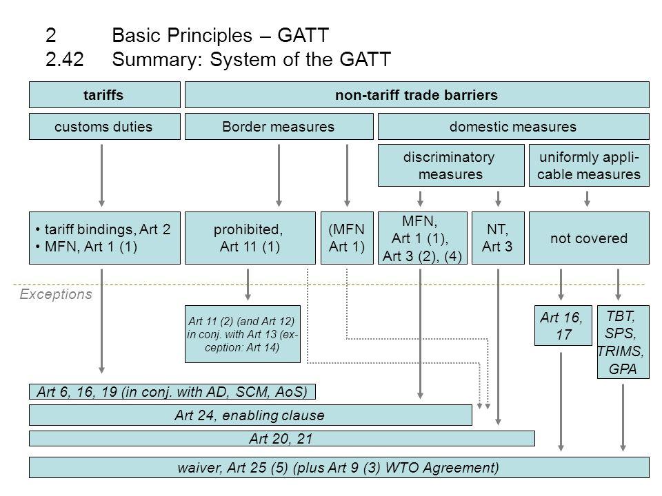 2basic principles gatt 227rules on unfair trade practices 16 tariffsnon tariff platinumwayz