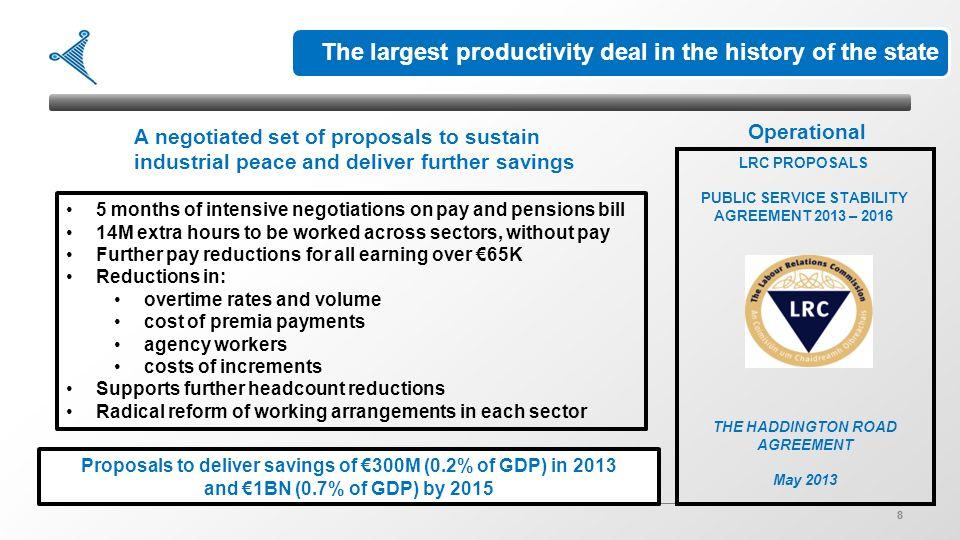 1 delivering public service reform in ireland presentation to eupan 8 8 8 lrc proposals public service stability agreement platinumwayz