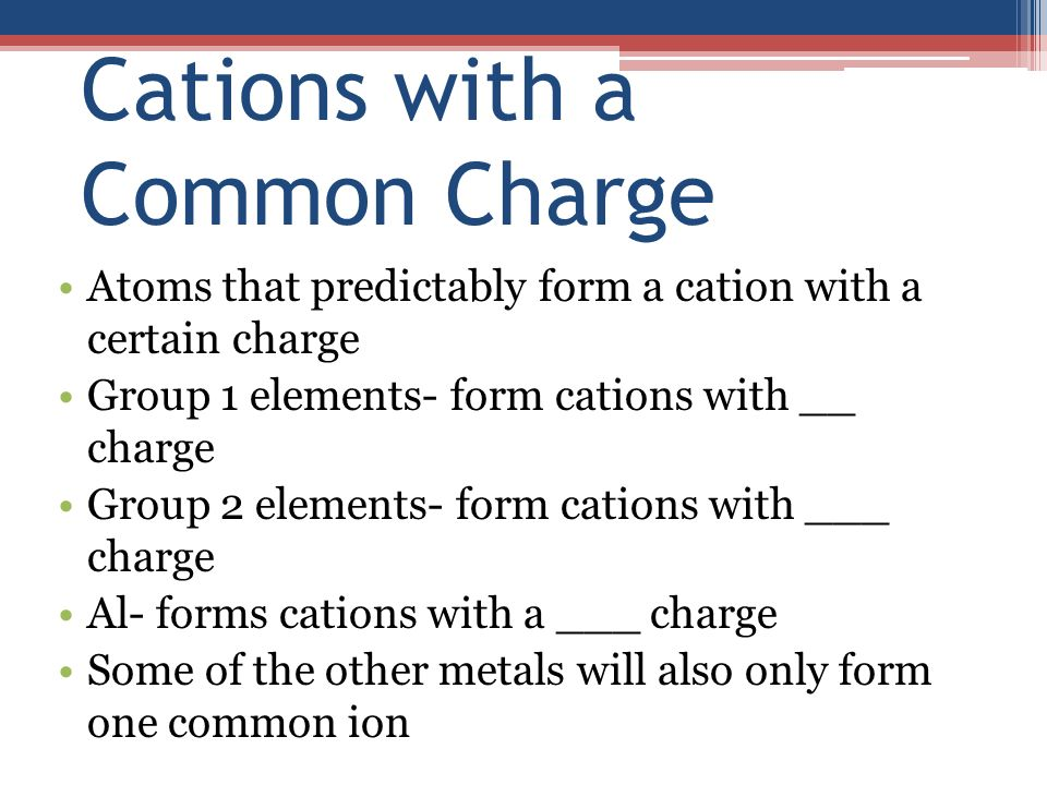 Ionic Compounds. Ion formation Octet rule- atoms want a full ...