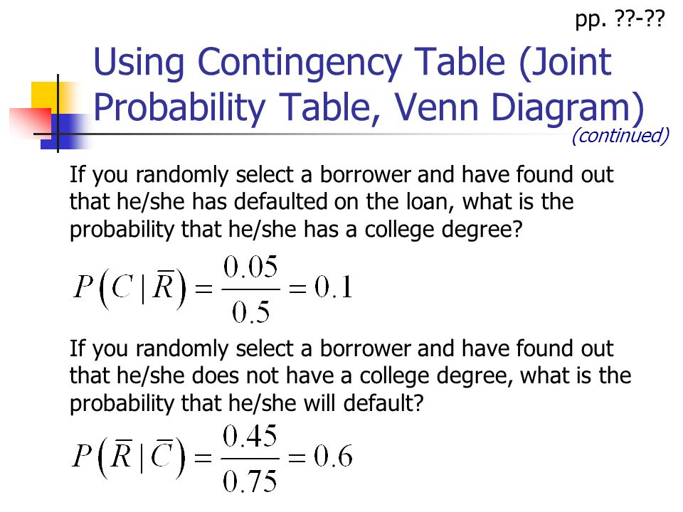 Ba 201 lecture 6 basic probability concepts topics basic using contingency table joint probability table venn diagram if you randomly select a ccuart Gallery