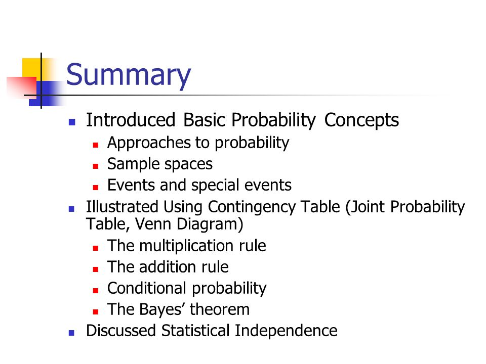 Ba 201 lecture 6 basic probability concepts topics basic concepts approaches to probability sample spaces events and special events illustrated using contingency table joint probability table venn diagram ccuart Gallery
