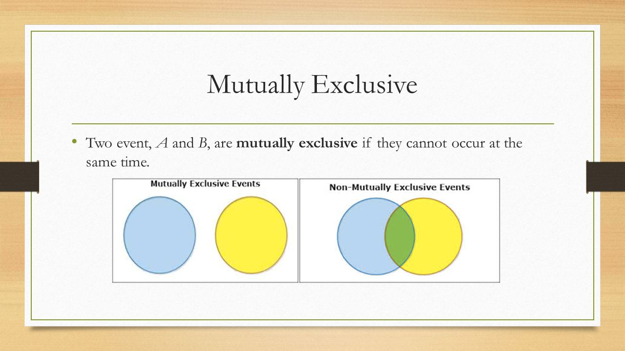 Addition rule mr evans statistics b venn diagram it is often 5 mutually exclusive two event a and b are mutually exclusive if they cannot occur at the same time pooptronica