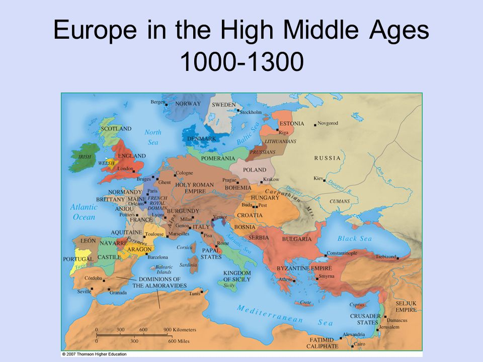 Europe in 1300, looks more like modern Africa. approx. [1000 x ...