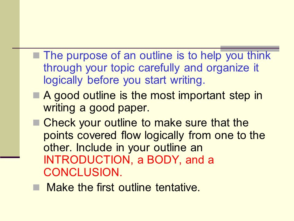 how to write a good outline for a research paper What is the first step of research paper writing preparing an outline for the paper if you have a research outline ready before writing, you will be able t.