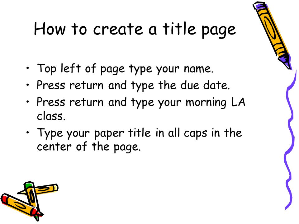 research paper notes there are parts of the mla research paper  how to create a title page top left of page type your
