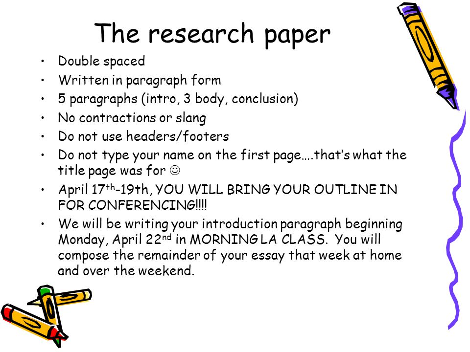 how to write an outline for my research paper