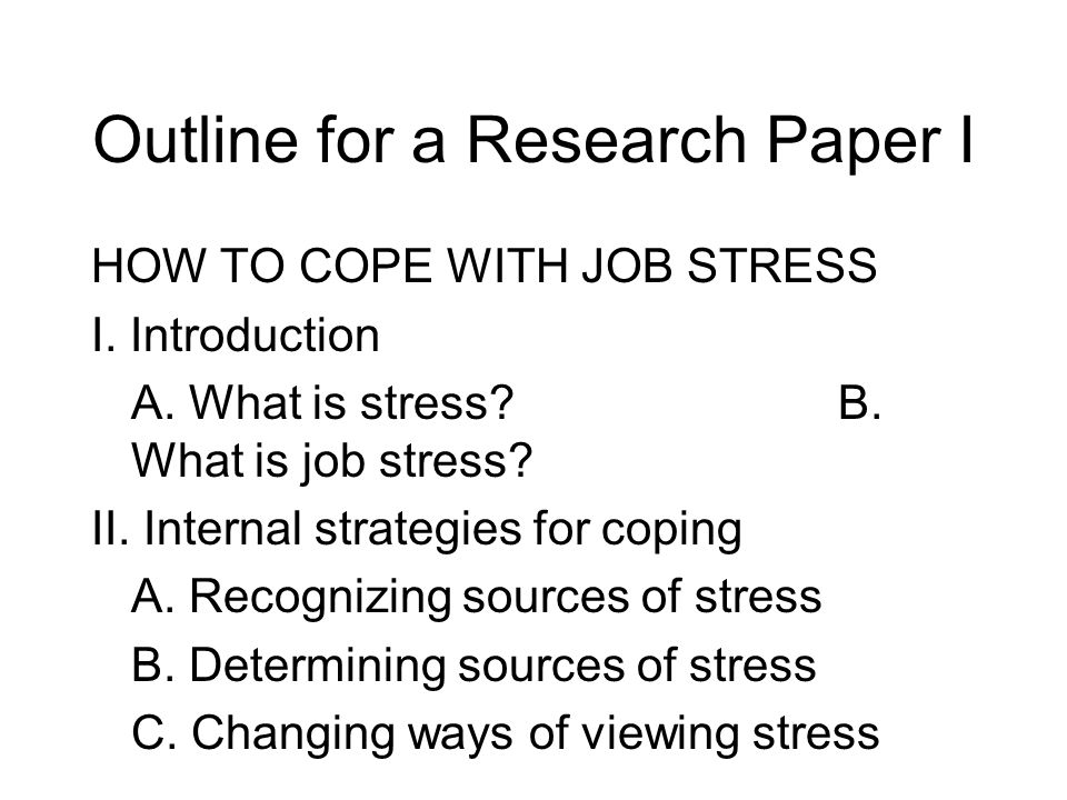 research paper introduction about stress Research paper about stress topics: engineering, wavelength, stress pages: 10 (1758 words) published: august 12, 2014 1 introduction 11 background of the study endless problems of identifying what stimuli people find stressful another approach has been to understand the response.
