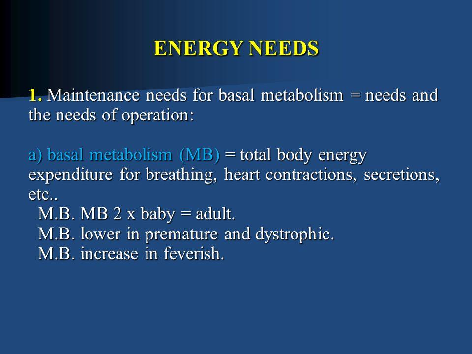 ENERGY NEEDS 1.