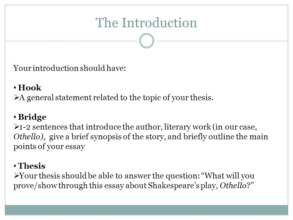 Engu Writing A Literary Essay Structure Almost All Essays Have   The Introduction