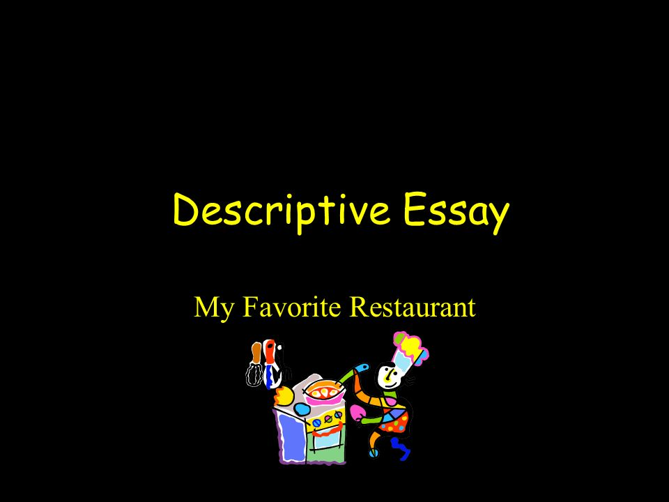 Describing Restaurants Essay